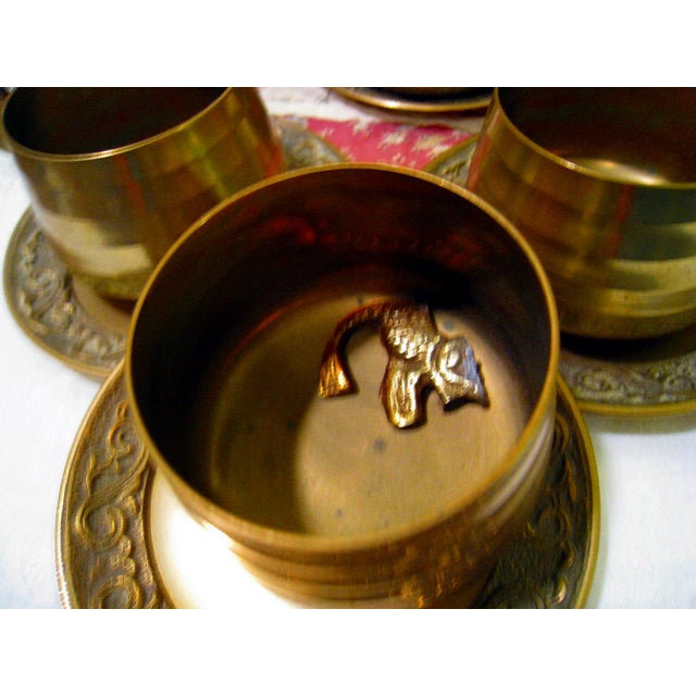 Vintage Hammered Brass Goldfish Tea Set - Image 9 of 10