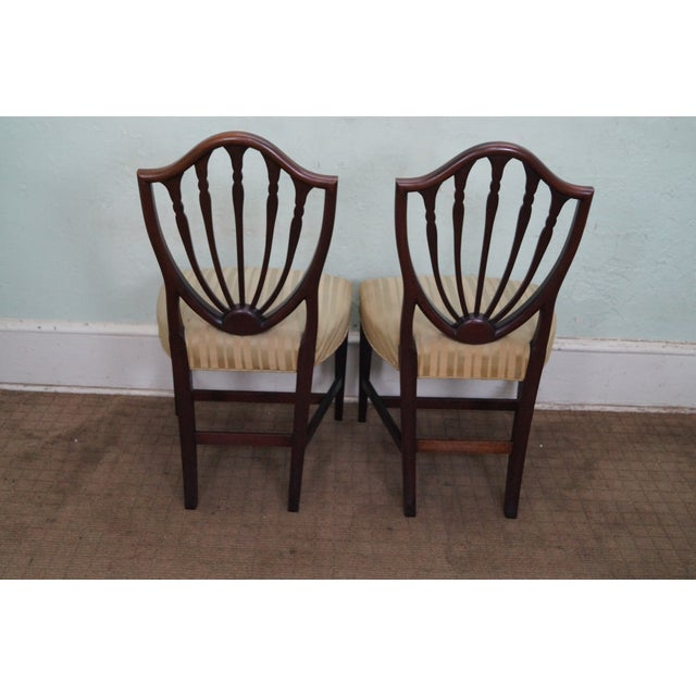 Mahogany Federal Style Inlaid Dining Chairs - 6 - Image 4 of 10
