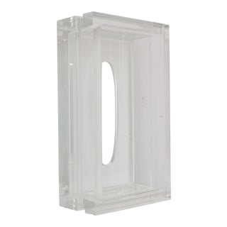 1960s Lucite Tissue Holder