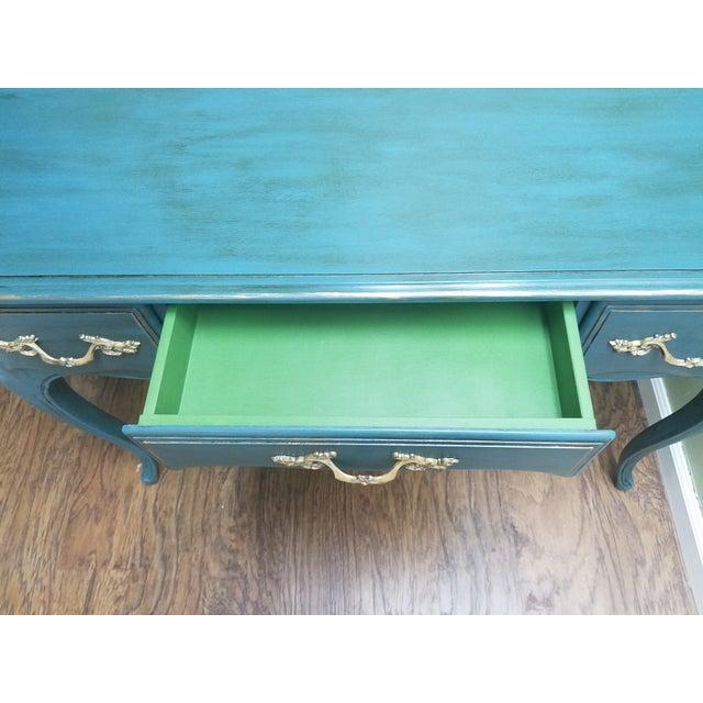 Hand Painted Desk/Vanity - Image 3 of 5