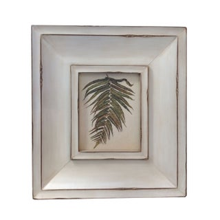 White Botanical in Thick White Frame