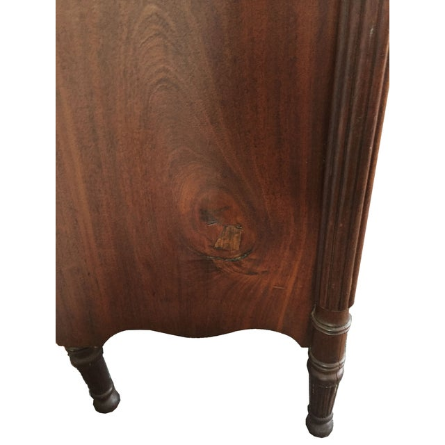 1820 Sheraton Bow-Front Chest of Drawers - Image 7 of 7