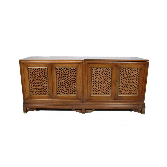 Signed Pierre Bartet Walnut Bar Cabinet - Image 11 of 11