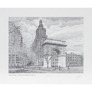 Walter Tjart - NY: The Washington Arch Etching