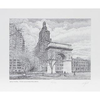 Walter Tjart - NY: The Washington Arch Etching