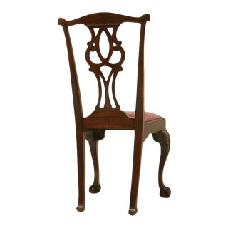 Eighteenth Century Hand-Carved Irish Chippendale Side Chair
