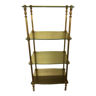 Glass & Brass Étagère Shelving Unit
