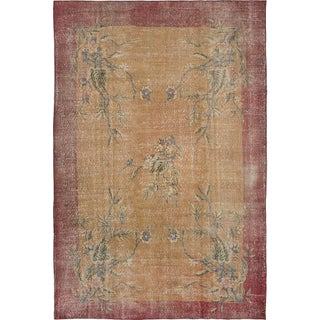 "Pastel Vintage Turkish Overdyed Rug - 6'5"" x 9'9"""