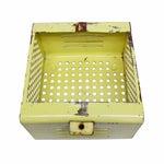 Image of Vintage Yellow Gym Locker Basket