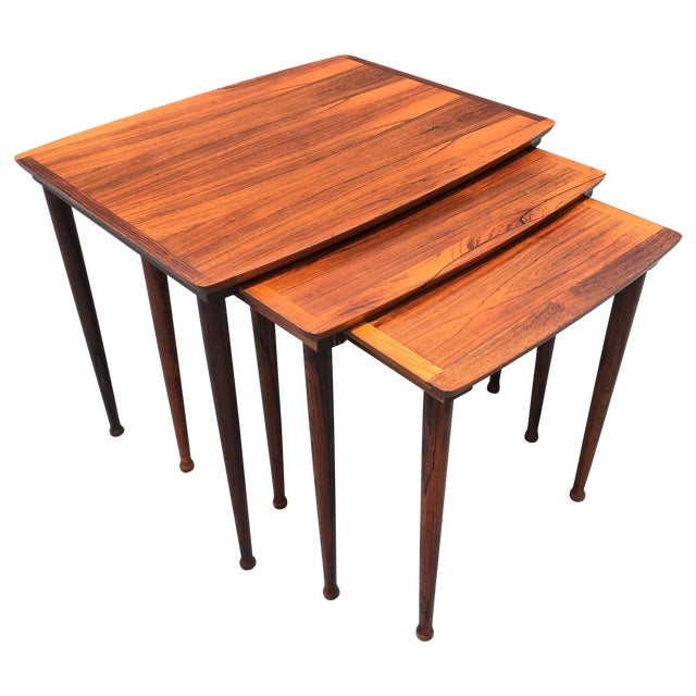 Image of Danish Modern Rosewood Nesting Tables