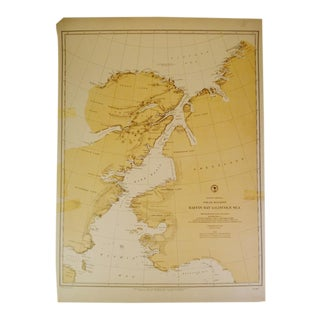 Antique 1885 Nautical Chart
