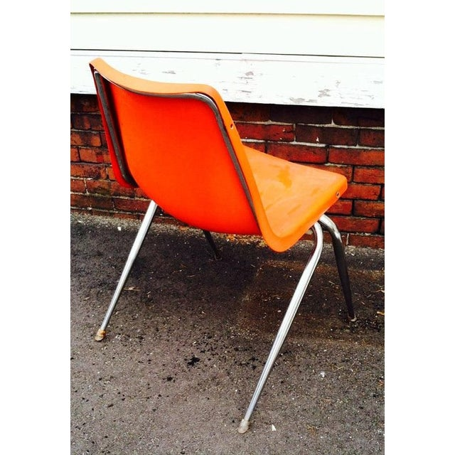 Orange Astro Furnishings Shell Chair - Image 4 of 5