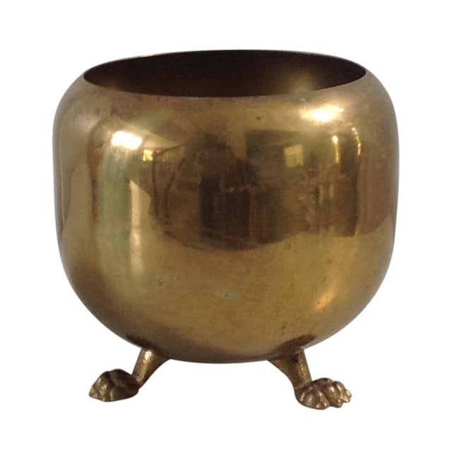 Brass Footed Planter Cachepot - Image 1 of 4