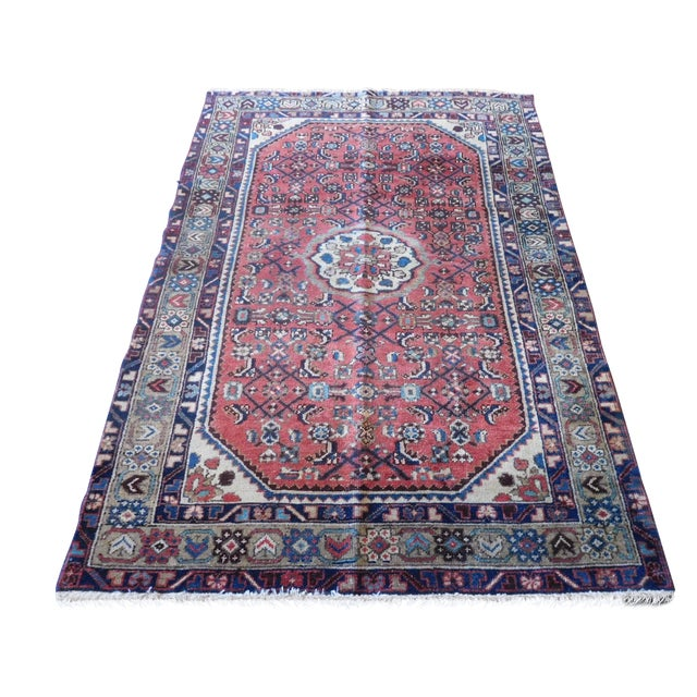 Old Persian Hamadan Rug - 3′7″ × 5′ - Image 1 of 7