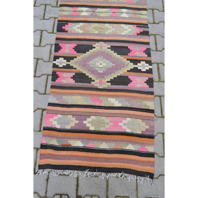 Hand Woven Vintage Turkish Runner - 2′7″ × 9′2″ - Image 9 of 10