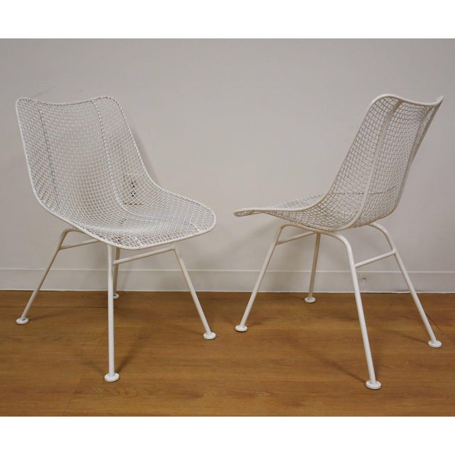Russell Woodard 'Sculptura' White Patio Dining Chairs- Set of 4 - Image 6 of 7