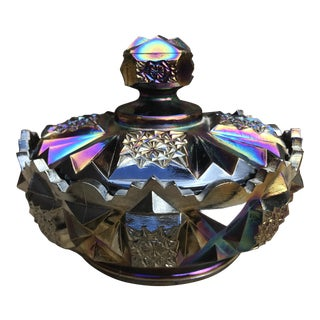 Westmoreland Carnival Glass Lidded Candy Bowl