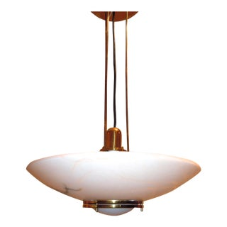 Lightolier Alabaster Pendant Light