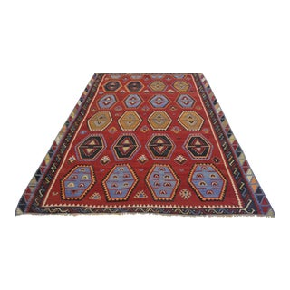 Antique Hand-Woven Wool Turkish Rug - 8′2″ X 11′3″