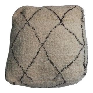 Gorgeous 100% Vintage Moroccan Wool Pouf