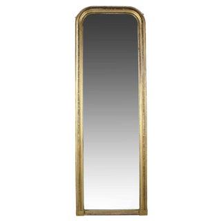 19th Century Antique Regency Giltwood Floor-to-Ceiling Mirror