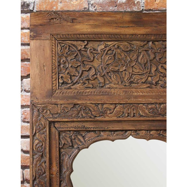 Handcarved Wooden Mirror - Image 4 of 4