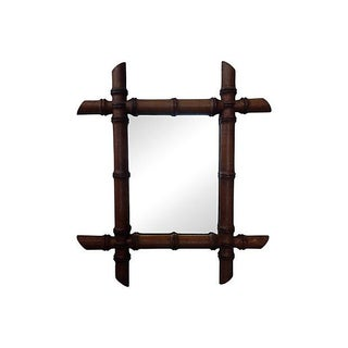 French Bamboo Wood Mirror