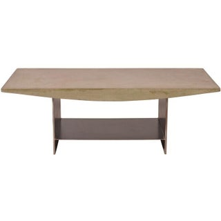 Distressed Concrete Coffee Table