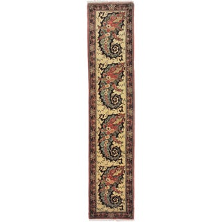 "Hand Knotted Simi Antique Runner - 10'10"" X 2'4"""