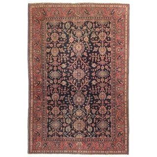 Antique Hand Knotted Wool Turkish Sparta Rug - 6′ × 8′11″