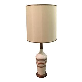 Mid-Century Danish White Pottery Lamp