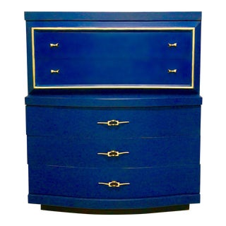 Mid-Century Royal Blue Chest of Drawers