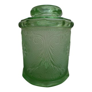 1920s Depression Glass Cookie Jar
