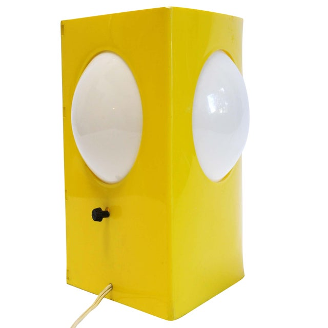 Mid-Century Mod Plastic Triangle Lamp - Image 1 of 10
