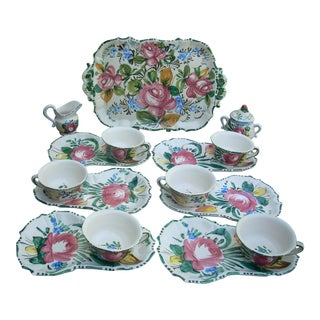 Vintage Italian Ceramic Dinnerware - Service for 6