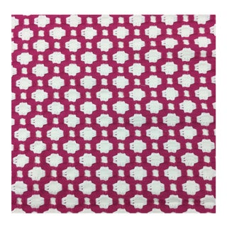 Schumacher Raspberry Betwixt Fabric - 4 Yards