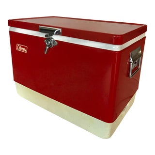 Vintage Coleman Cooler W/ Original Trays & Box