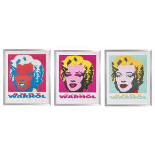 Set of Three Framed Andy Warhol 'Marilyn 1967' Prints by Nouvelles Images, 1989