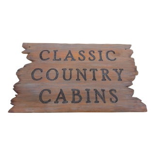 Classic Country Cabin Sign