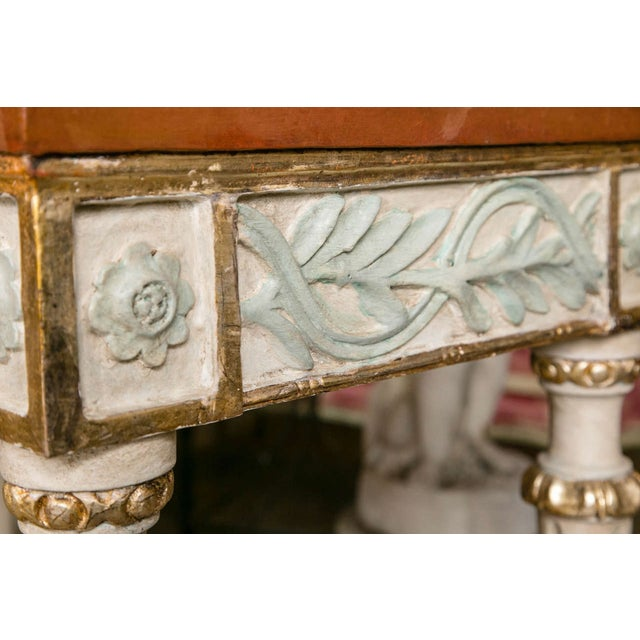 Swedish Paint Decorated Console Tables - A Pair - Image 5 of 8