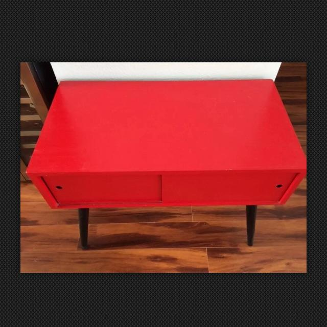 Image of Mid Century Record Cabinet End Table