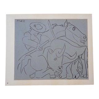"""Vintage Picasso Lithograph-""""La Pique Cassee"""""""