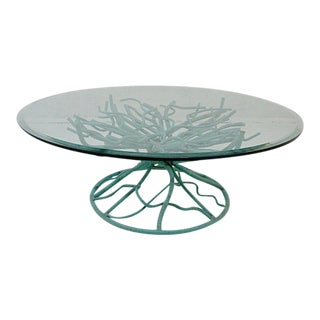 Metal Faux Coral Coffee Table