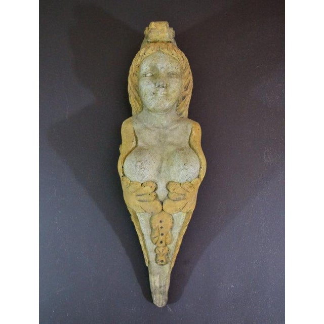 Vintage Stone Woman Hanging Sculpture - Image 4 of 6