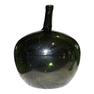 Demijohn Antique Blown Glass Kidney-Style Bottle