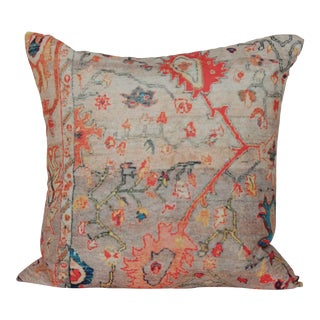 Vintage Multi-Colored Print Pillow Cover-16''