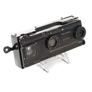 Vintage Gaumont Paris Stereo Camera Circa 1900s
