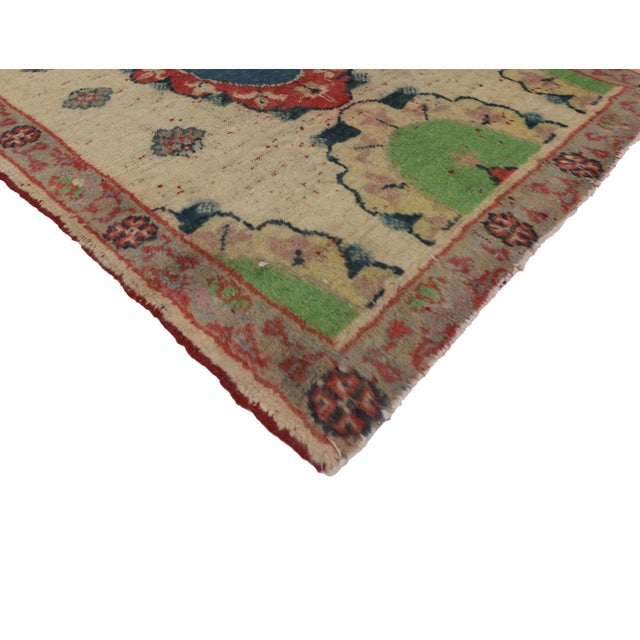 Vintage Yastik Turkish Rug with Modern Style, 2'4 x 3' - Image 2 of 4