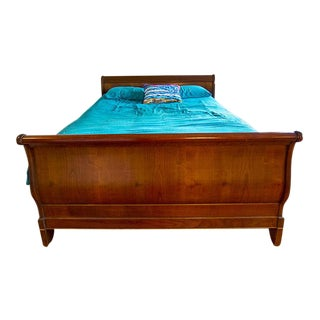 Queen Size Grange Sleigh Bed with Headboard & Footboard