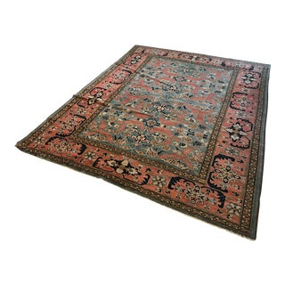 Vintage Persian Art Deco Malayer? Blue Wool Area Rug - Approx. 8' X 10'
